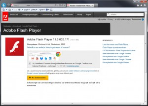 Adobe Flash Player Ransomware screenshot