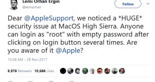 Apple Security MacOS High Sierra