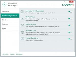Kaspersky Antivirus 2015 bescherming