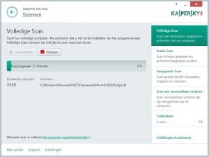Kaspersky Antivirus 2015 scan