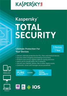 Kaspersky Total Security 2017 Multi Device Box