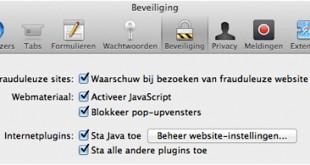 Safari beveiliging Waarschuw bij bezoeken van frauduleuze website