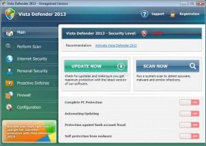 Verwijder vista defender 2013